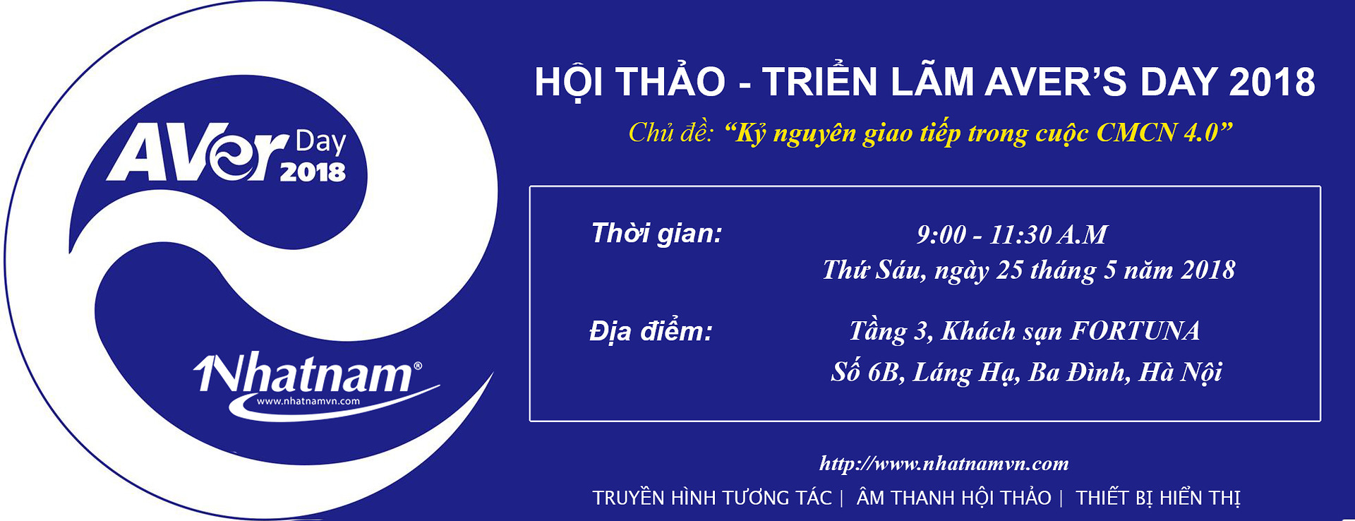 AVer's Day 2018: Kỷ nguyên giao tiếp trong cuộc CMCN 4.0
